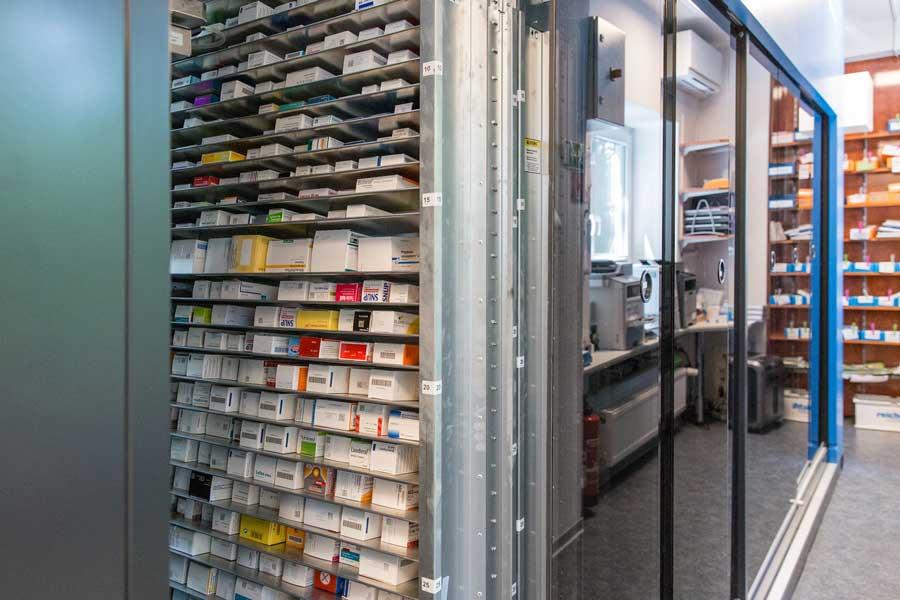 Medikamente im automatisierten Warenlager